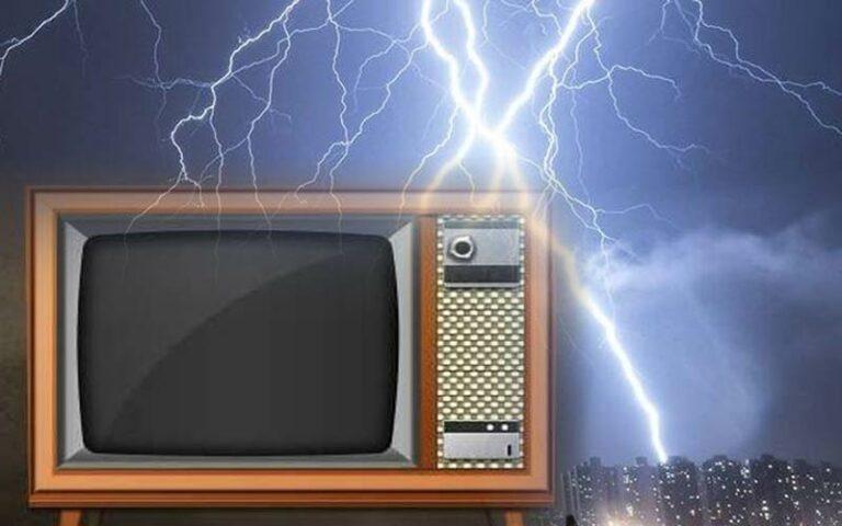 Biaya Service TV Kena Petir