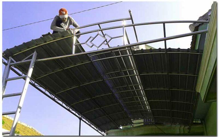 Harga Borongan Pasang Atap Spandek