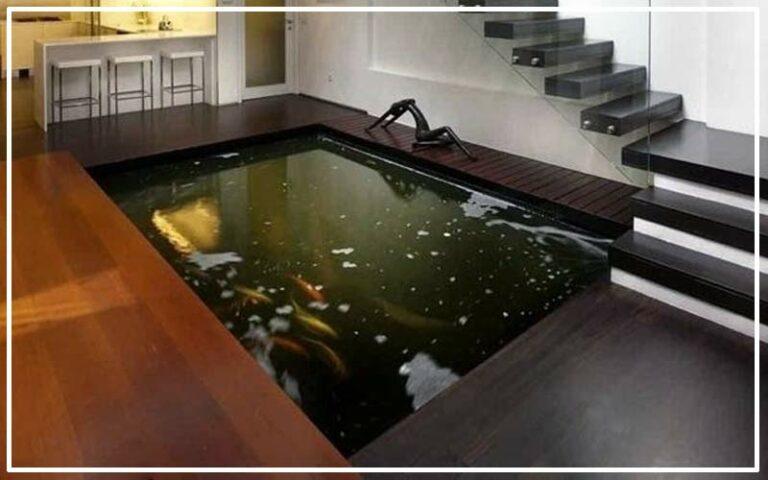 Kolam Ikan Koi Dalam Rumah