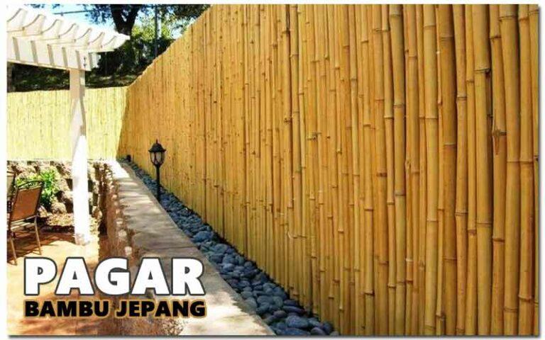 Cara Membuat Pagar Dari Bambu